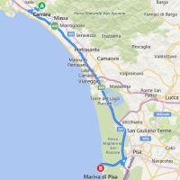 Karte Toskana Küste.Am Meer Die Toskana Entlang