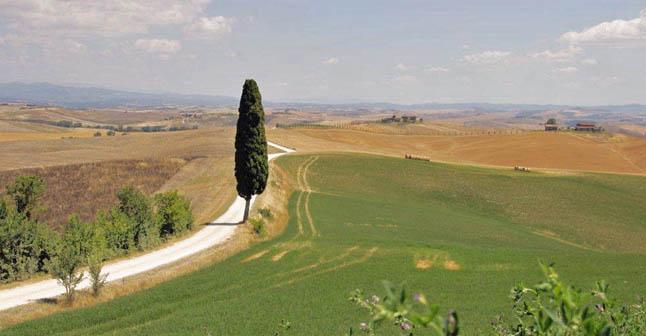 toscana cykel landskab