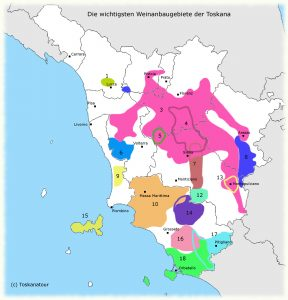 Toscana vinregioner
