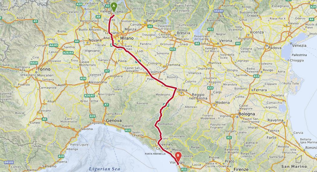 italien toskana route1