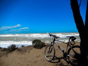 Mountainbike ved havet