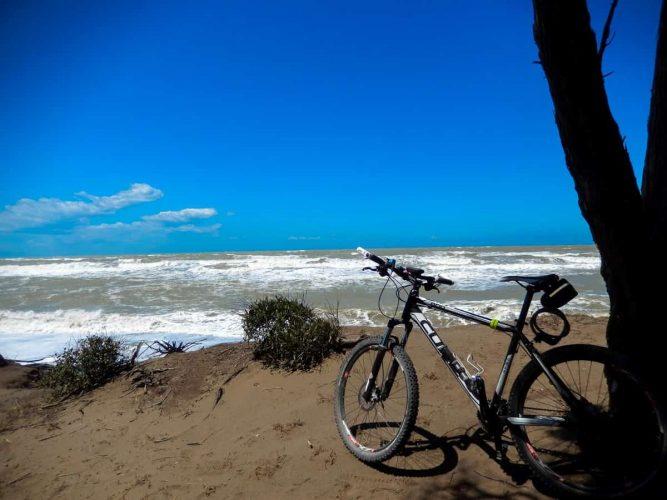 Mountainbike am Meer