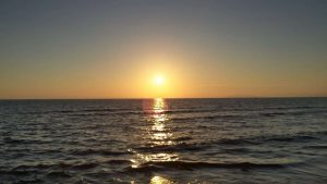 Solnedgang i Toscana