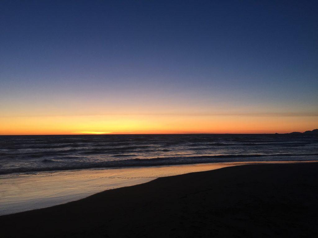 Sonnenuntergang bei Forte dei Marmi