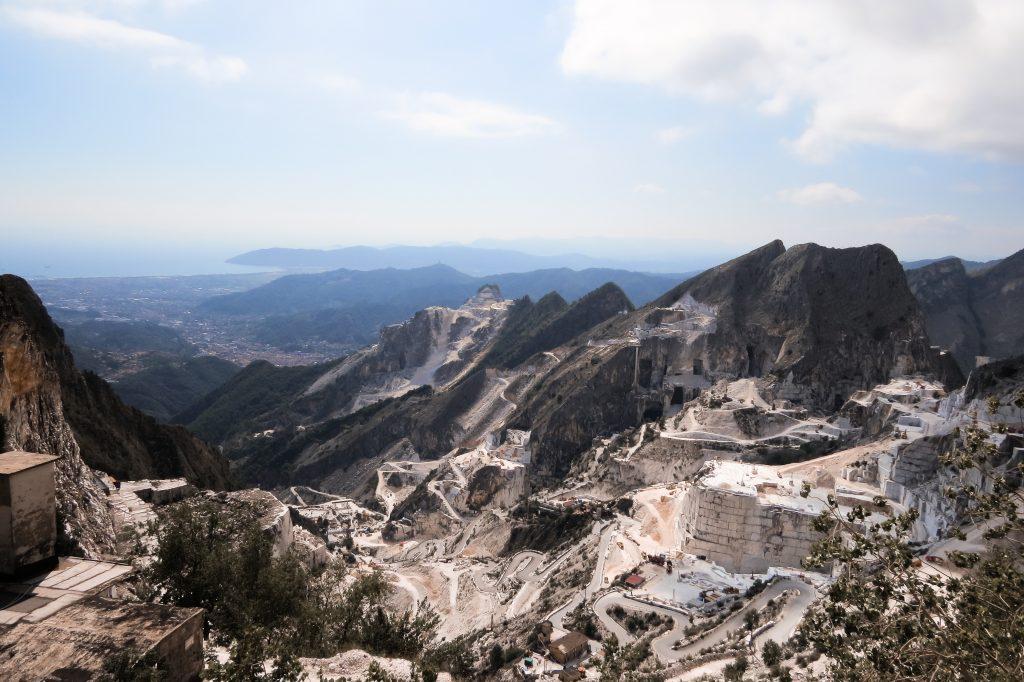 Marmor Steinbruch bei Carrara