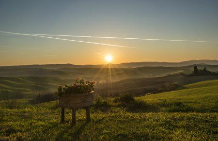 Západ slnka v toskánsku