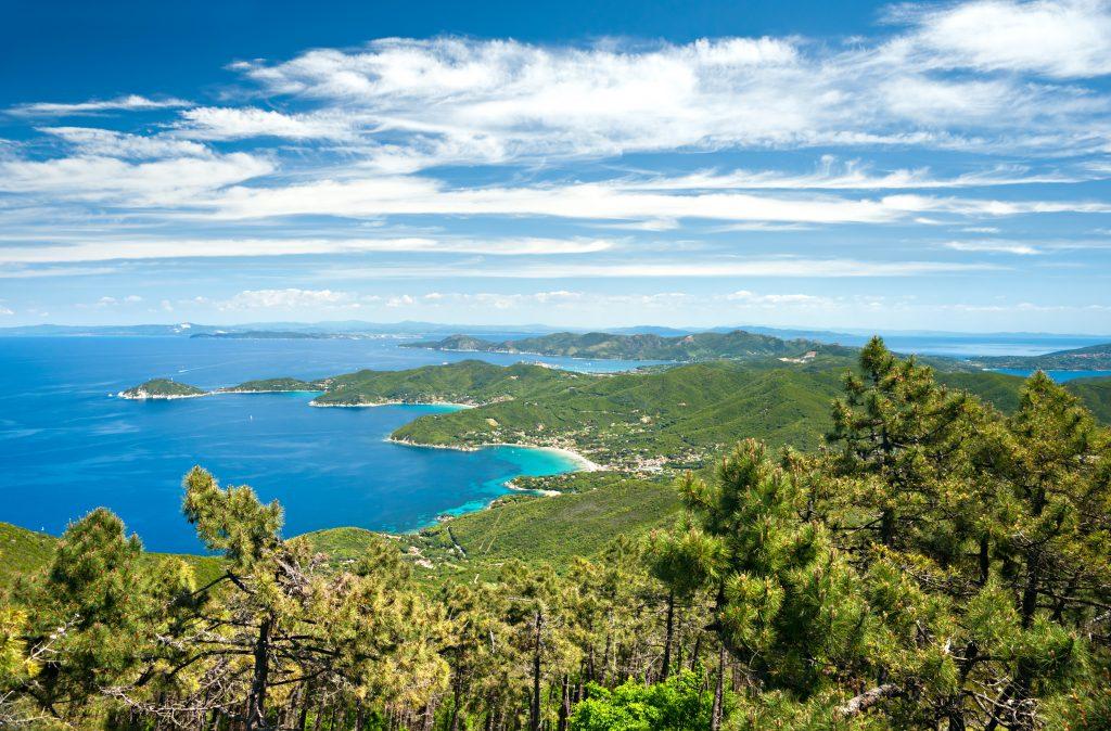 Panoramablick über Elba